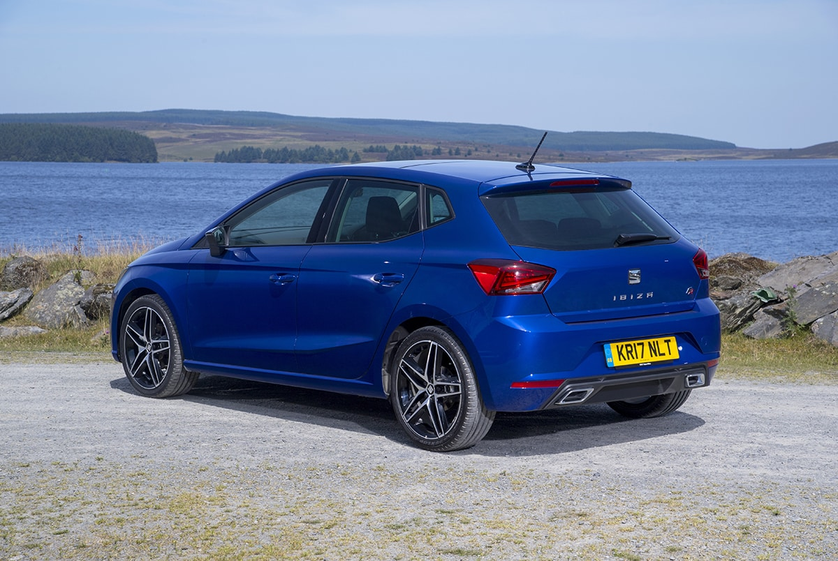 SEAT Ibiza 2017 - static rear 3/4 (The Car Expert)