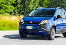 New Fiat Panda City Cross in Electronica Blue