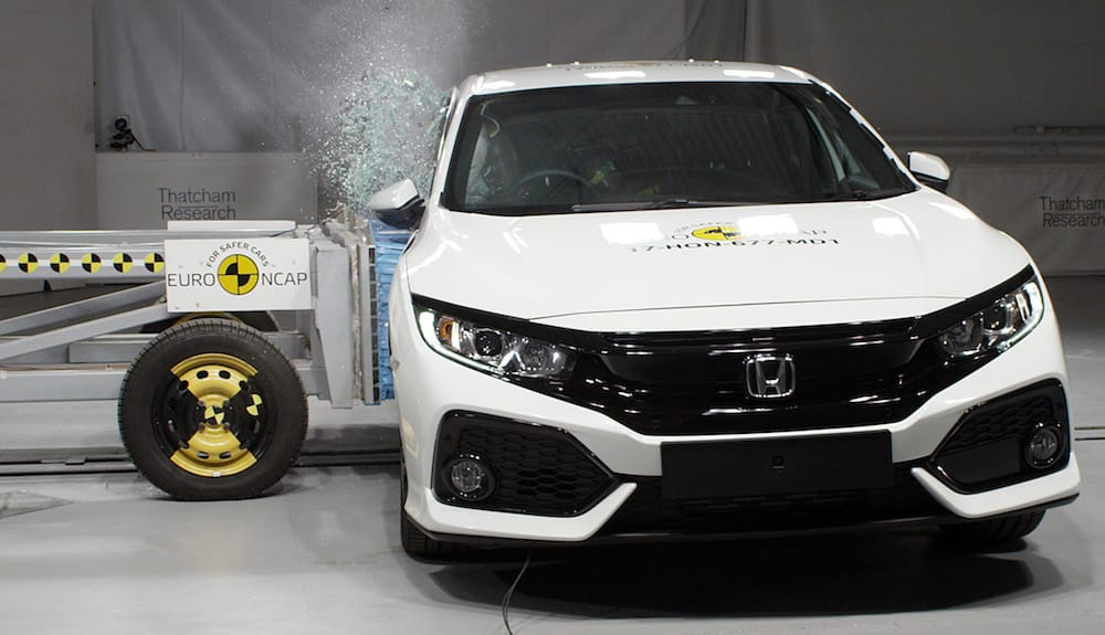 Honda Civic wasn't awarded a five-star Euro NCAP safety rating