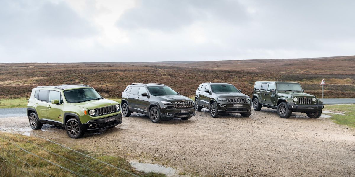 Jeep range for 2017