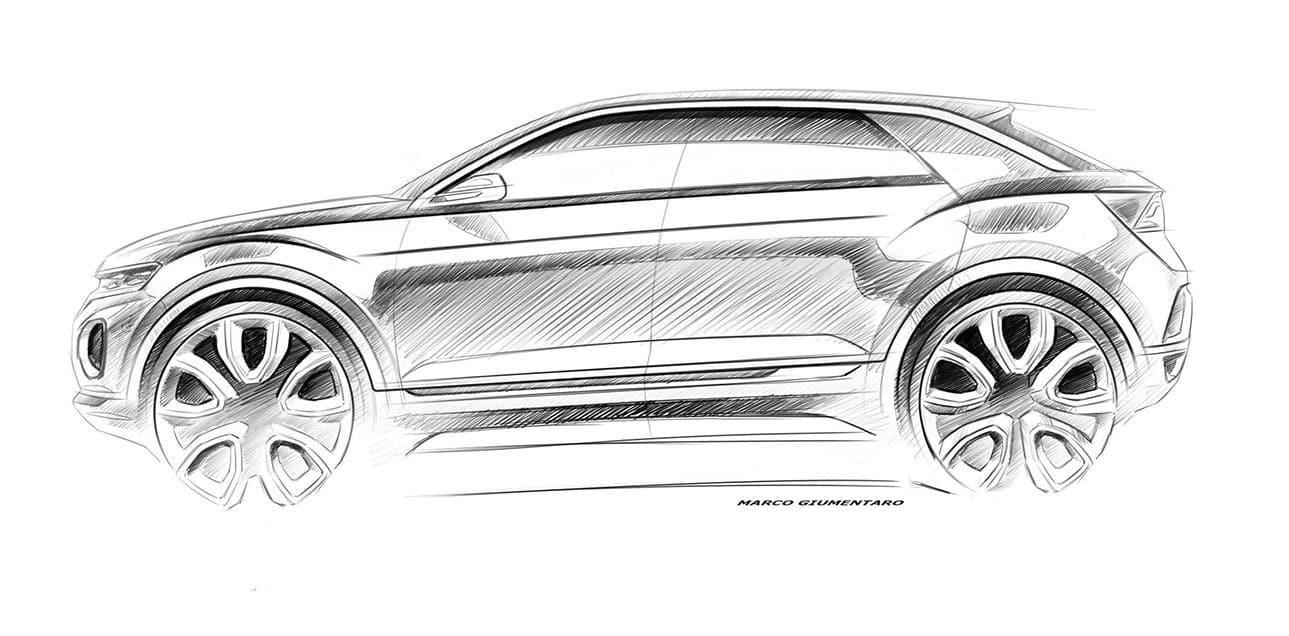 Volkswagen T-Roc sketch side