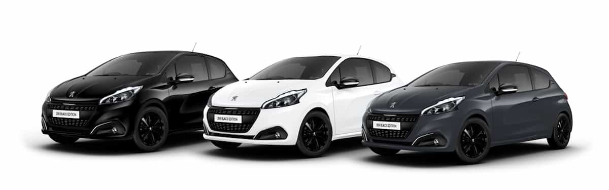 Peugeot 208 Black Edition colour choices