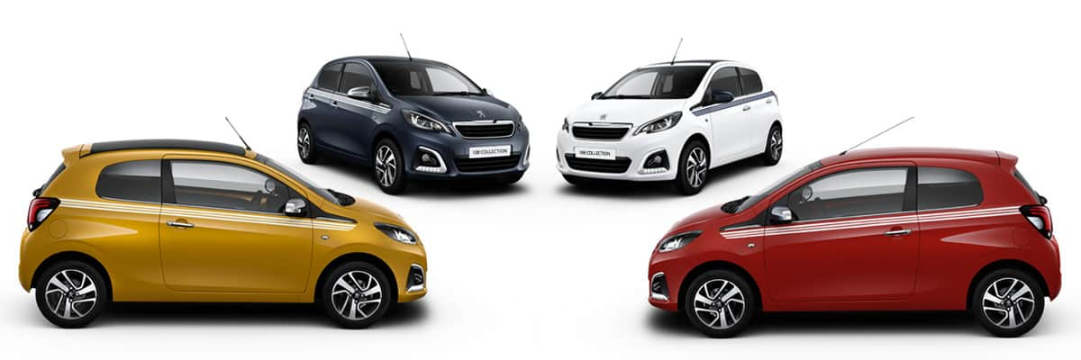 Peugeot 108 Collection colour choices