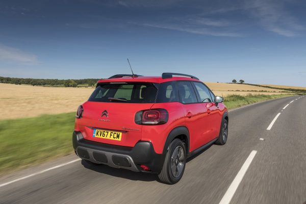 Citroen C3 Aircross on road rear (The Car Expert)
