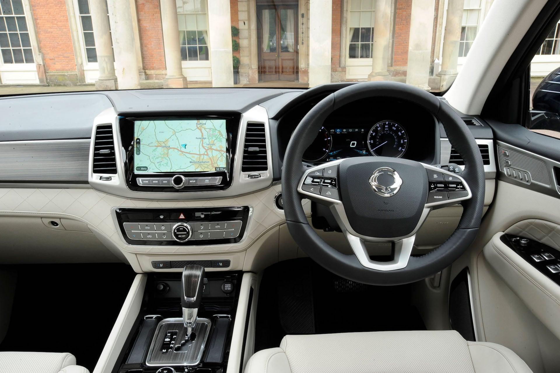 SsangYong Rexton dashboard | The Car Expert review 2017