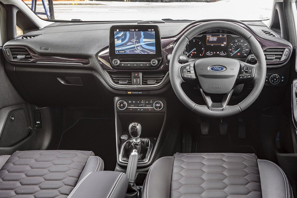 Ford Fiesta Vignale interior 2017 (The Car Expert)