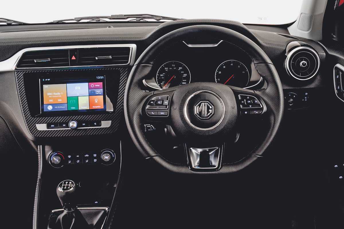 MG ZS dashboard (The Car Expert)