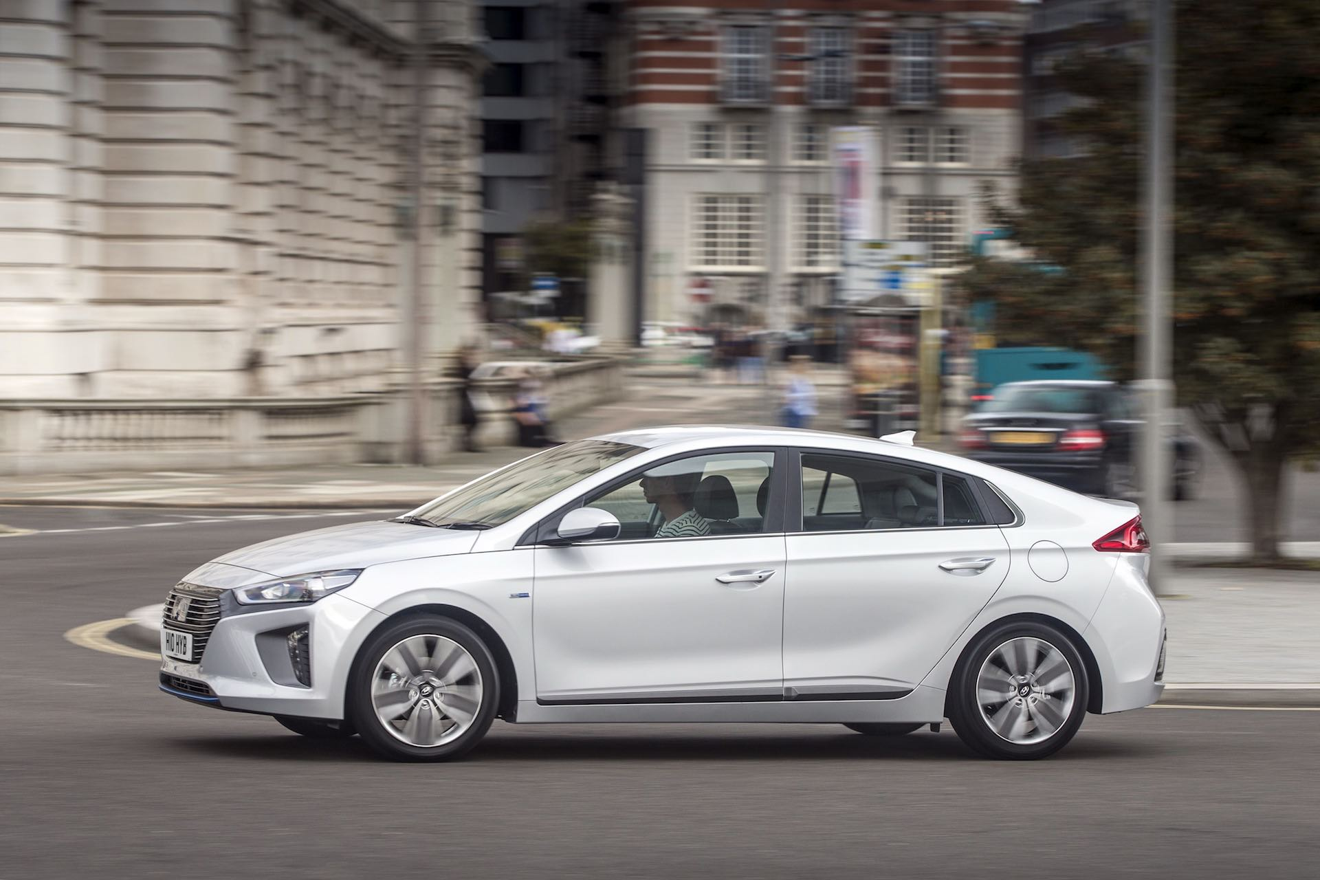 Hyundai Ioniq hybrid on the streets of London