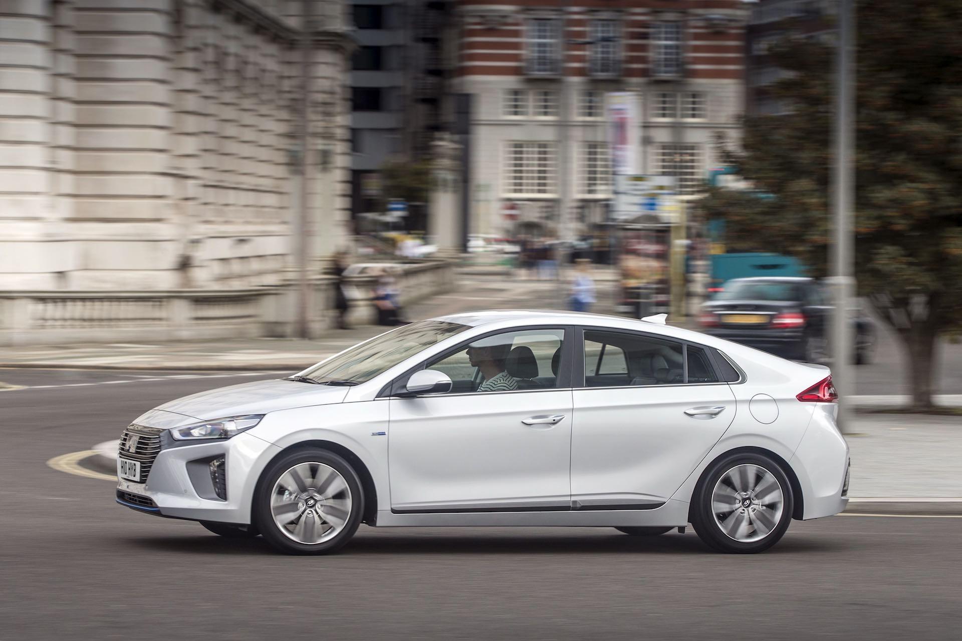 Hyundai Ioniq hybrid on the streets of London