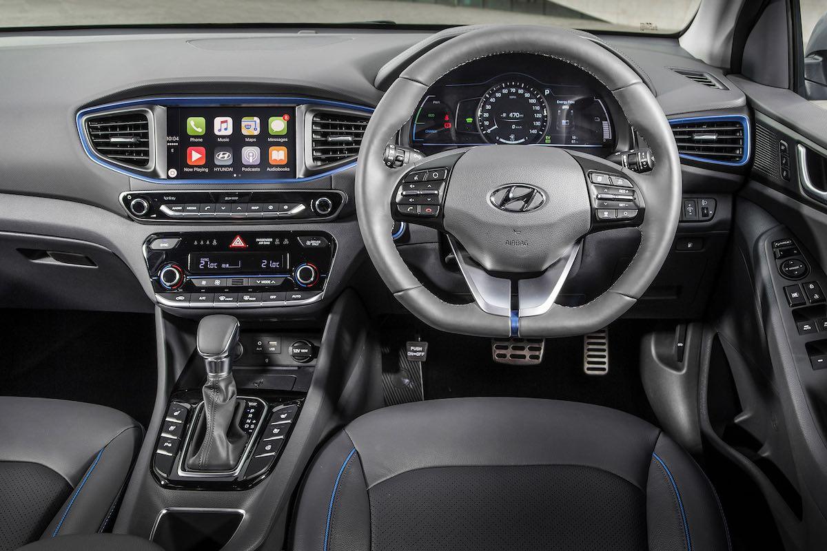 Hyundai Ioniq hybrid dashboard