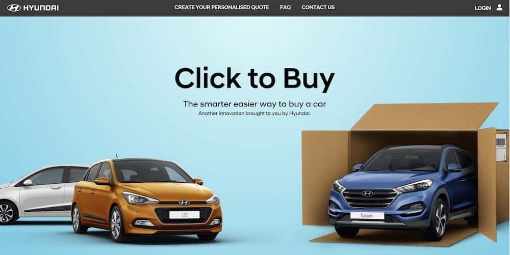 Hyundai Click to Buy a car online (The Car Expert)