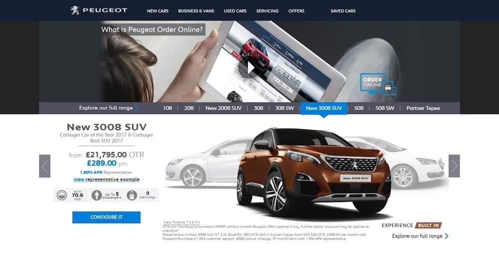 Peugeot Order Online (The Car Expert)