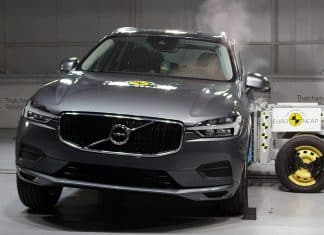 Volvo XC60 being crash tested by Euro NCAP