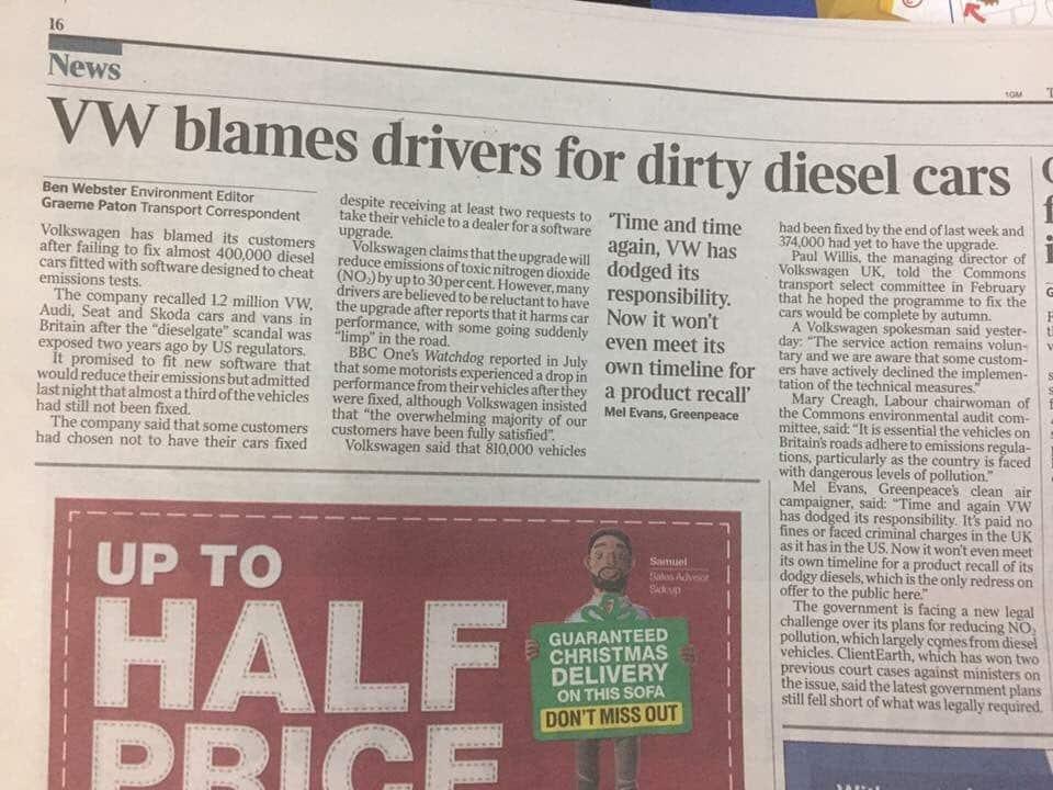 Volkswagen dieselgate fail