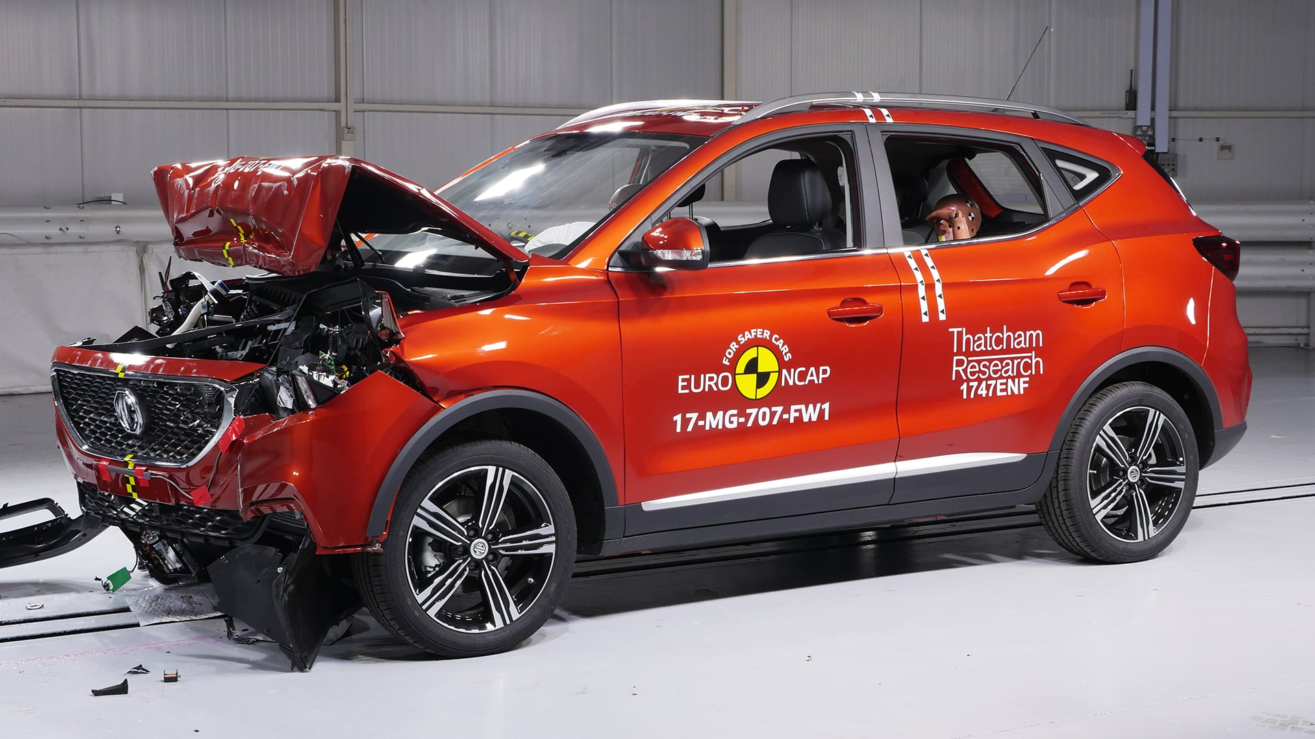 MG ZS crash test The Car Expert