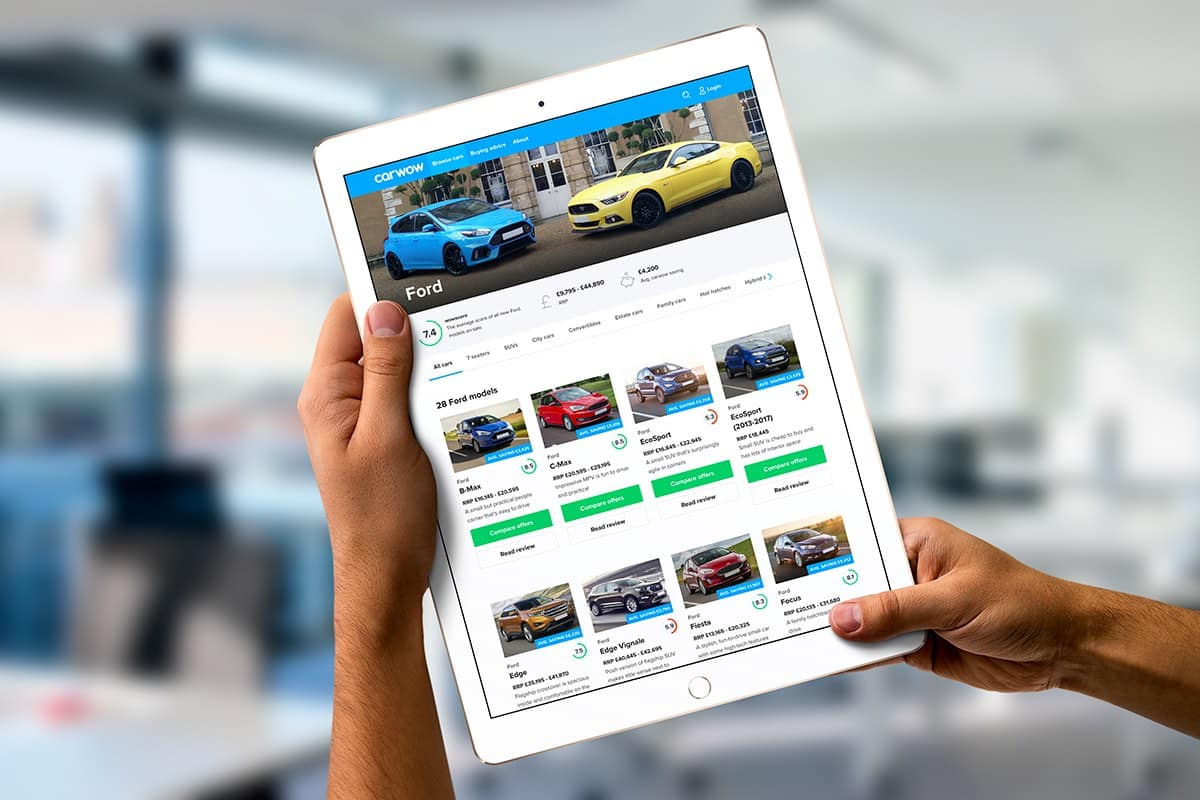 Carwow website for buying a car (The Car Expert)