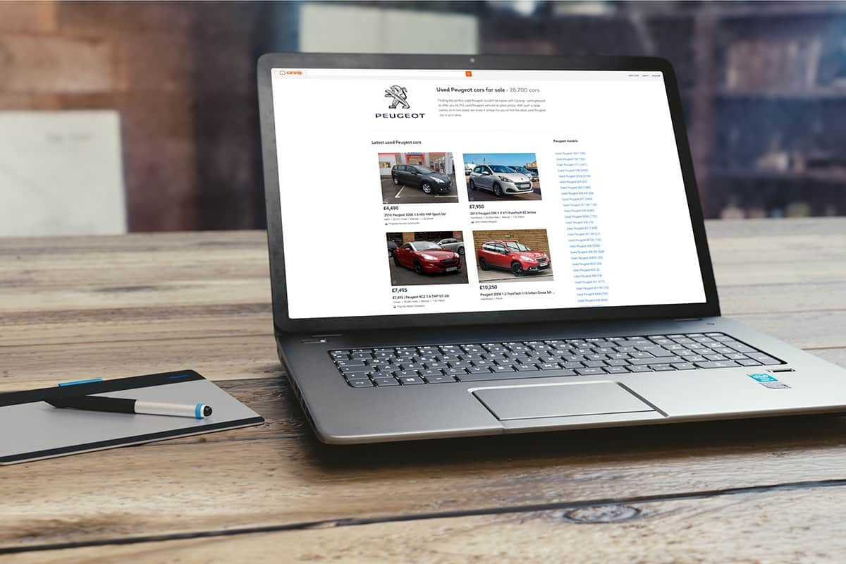 Carsnip website for buying a car (The Car Expert)