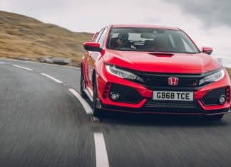 Honda Civic Type R with 68-plate registration