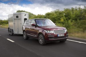 Range Rover and horse trailer