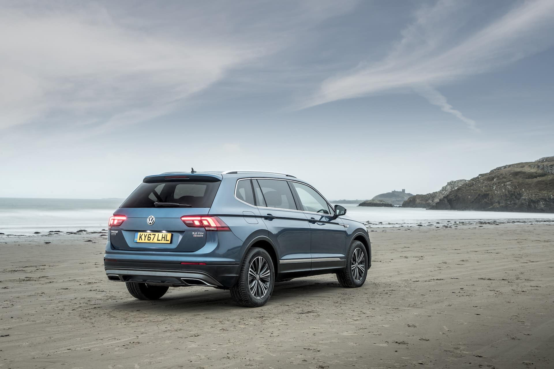 VW Tiguan Allspace on a beach