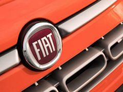 Fiat badge on the nose of a 500L