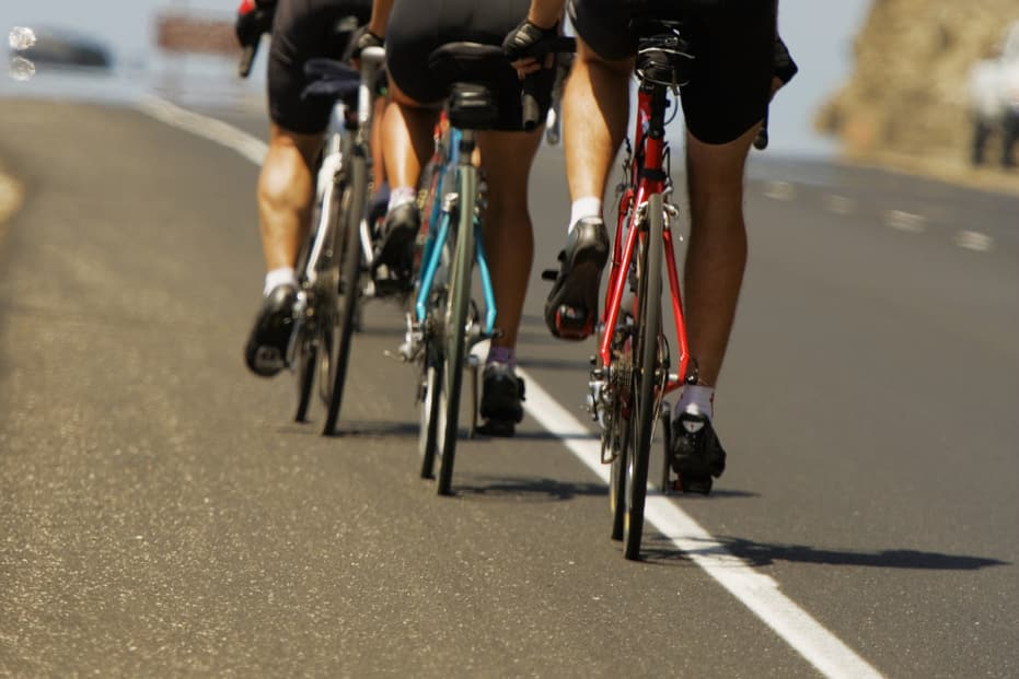 cyclists on A-roads rather than cycle routes