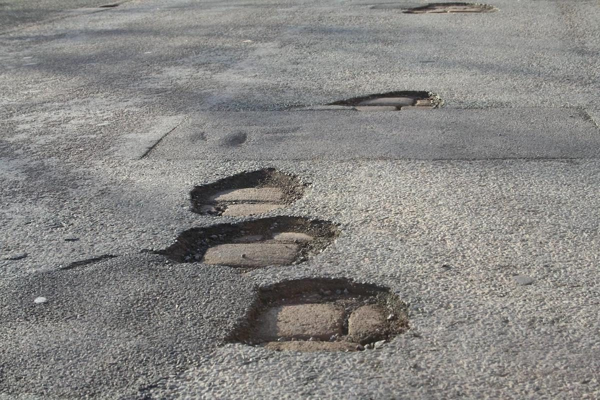 UK roads are full of potholes