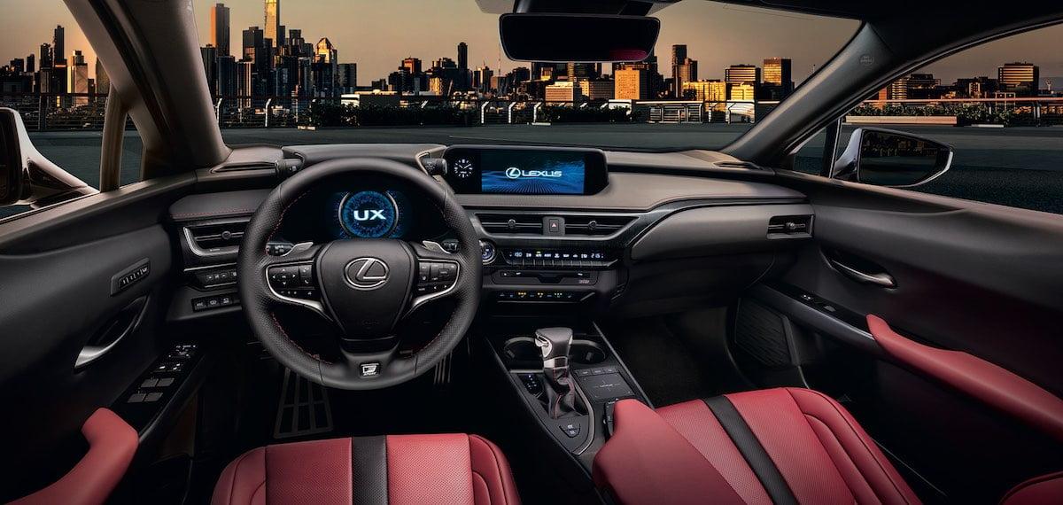 Lexus UX dashboard