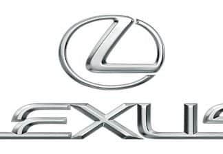 Lexus logo chrome