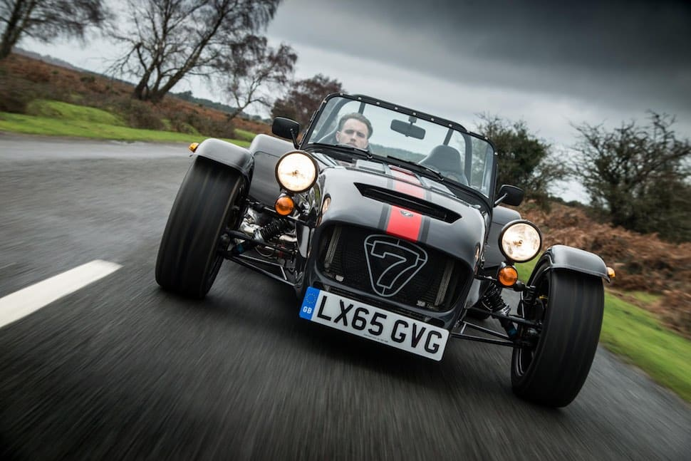 Caterham 620S on road - front