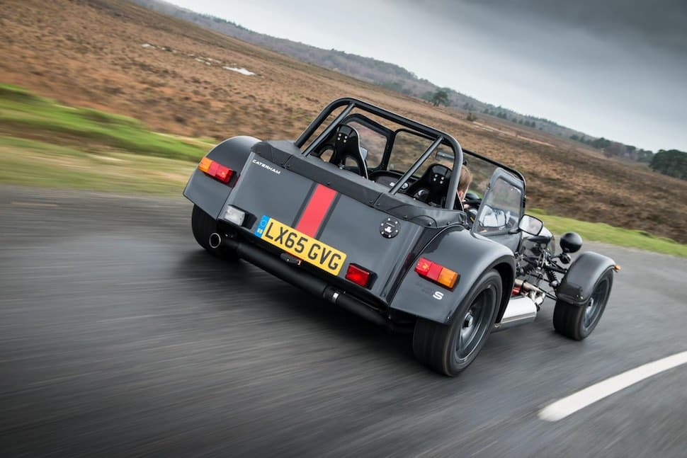 Caterham 620S on road - rear
