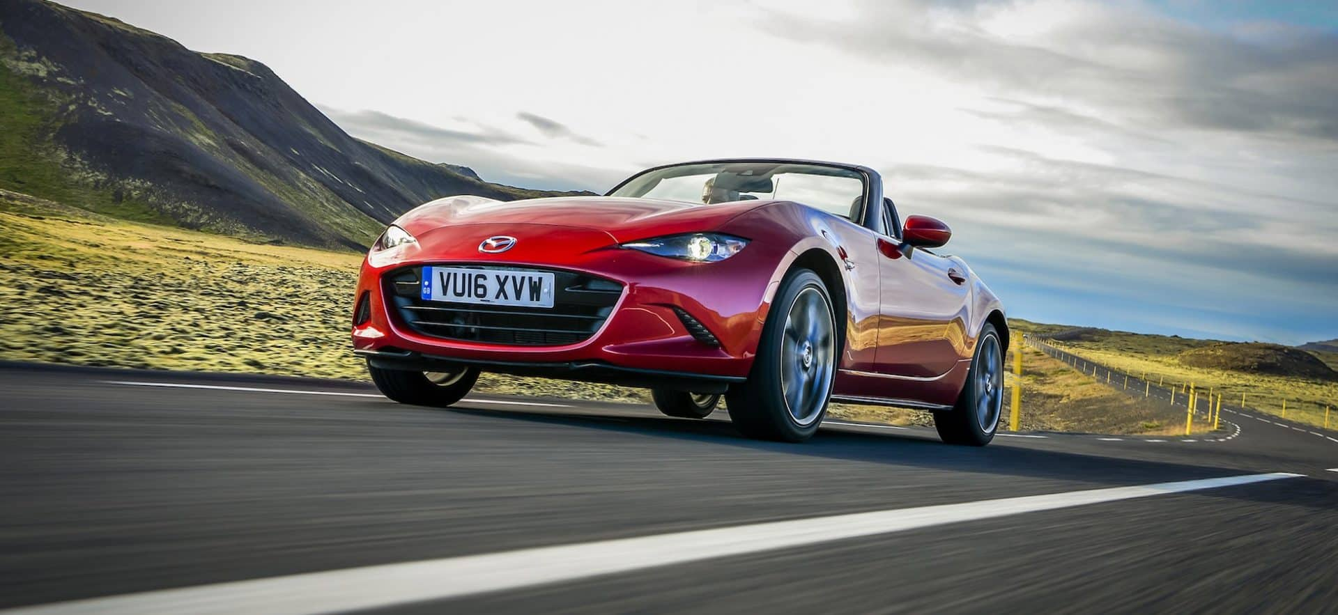 Mazda MX-5 on the road front