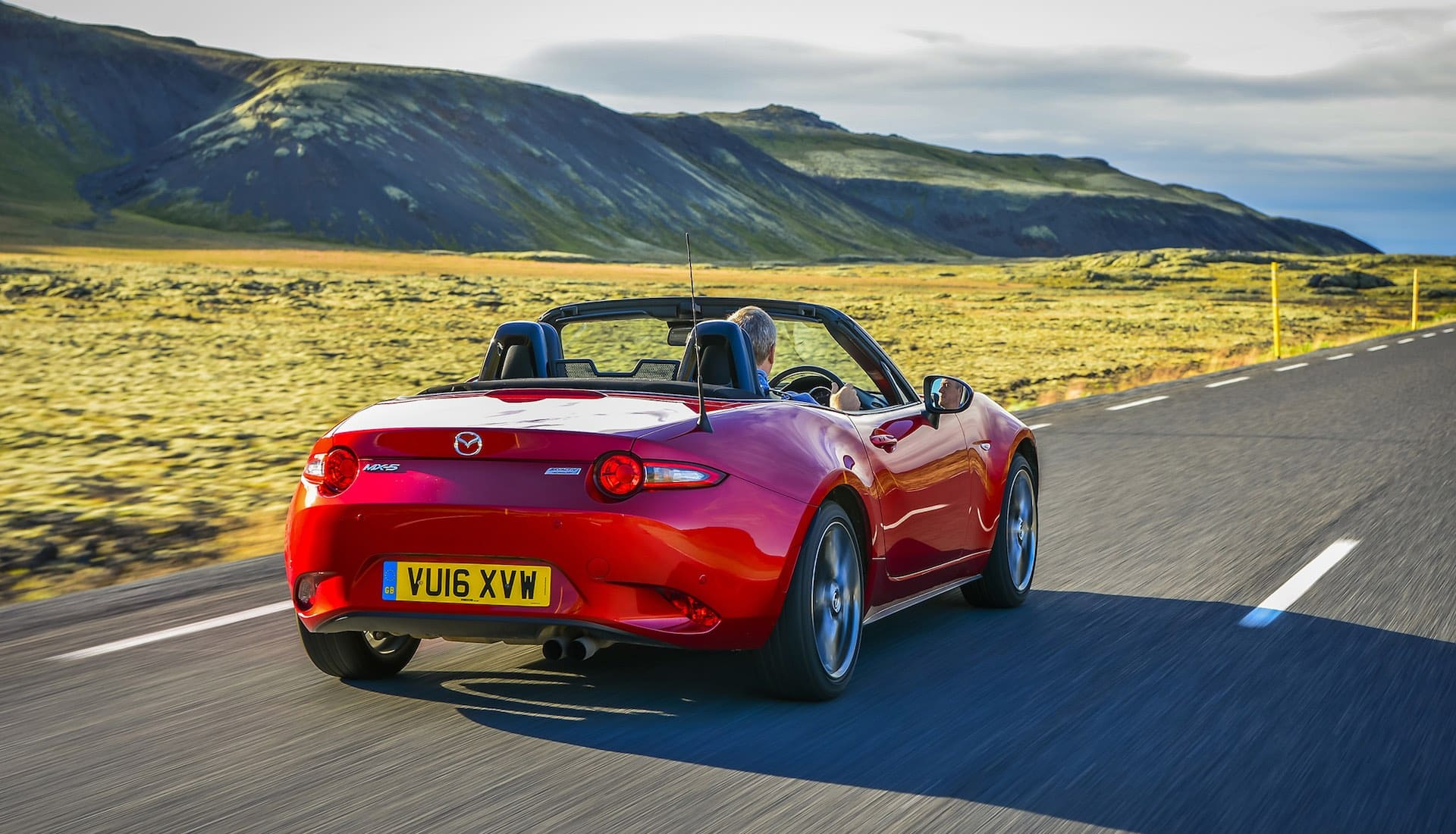 Mazda MX-5 on the road rear