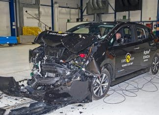 Nissan Leaf crash test The Car Expert
