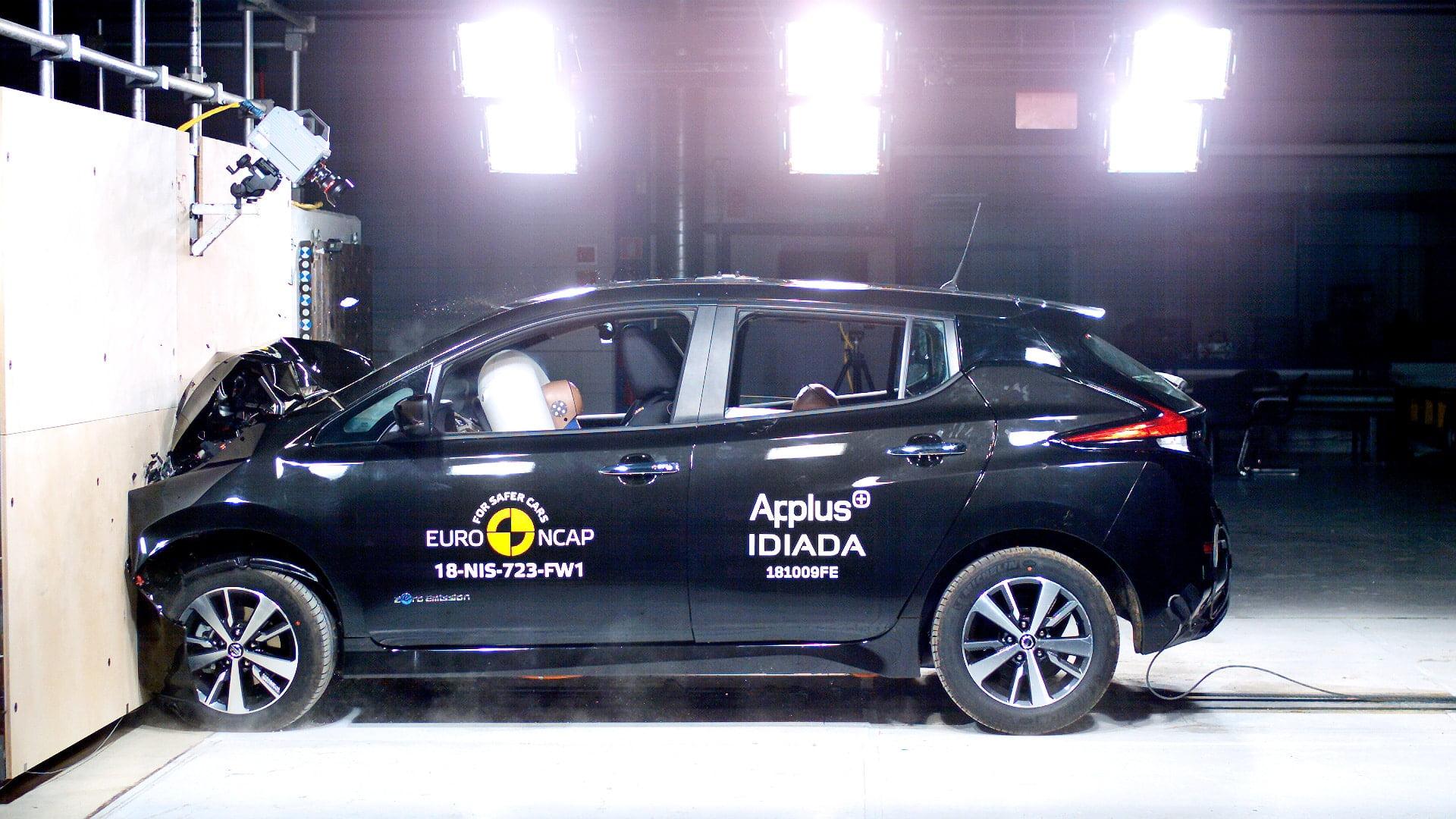 Nissan Leaf crash test The Car Expert