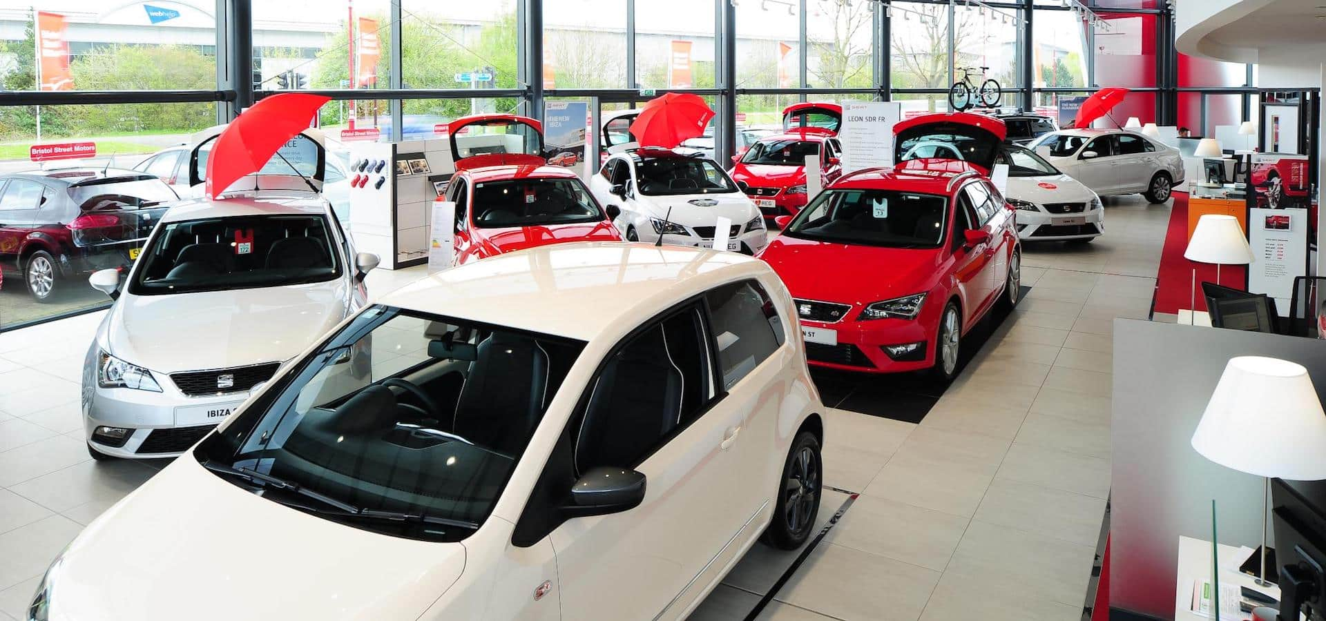 Mercedes-Benz used cars at a dealership