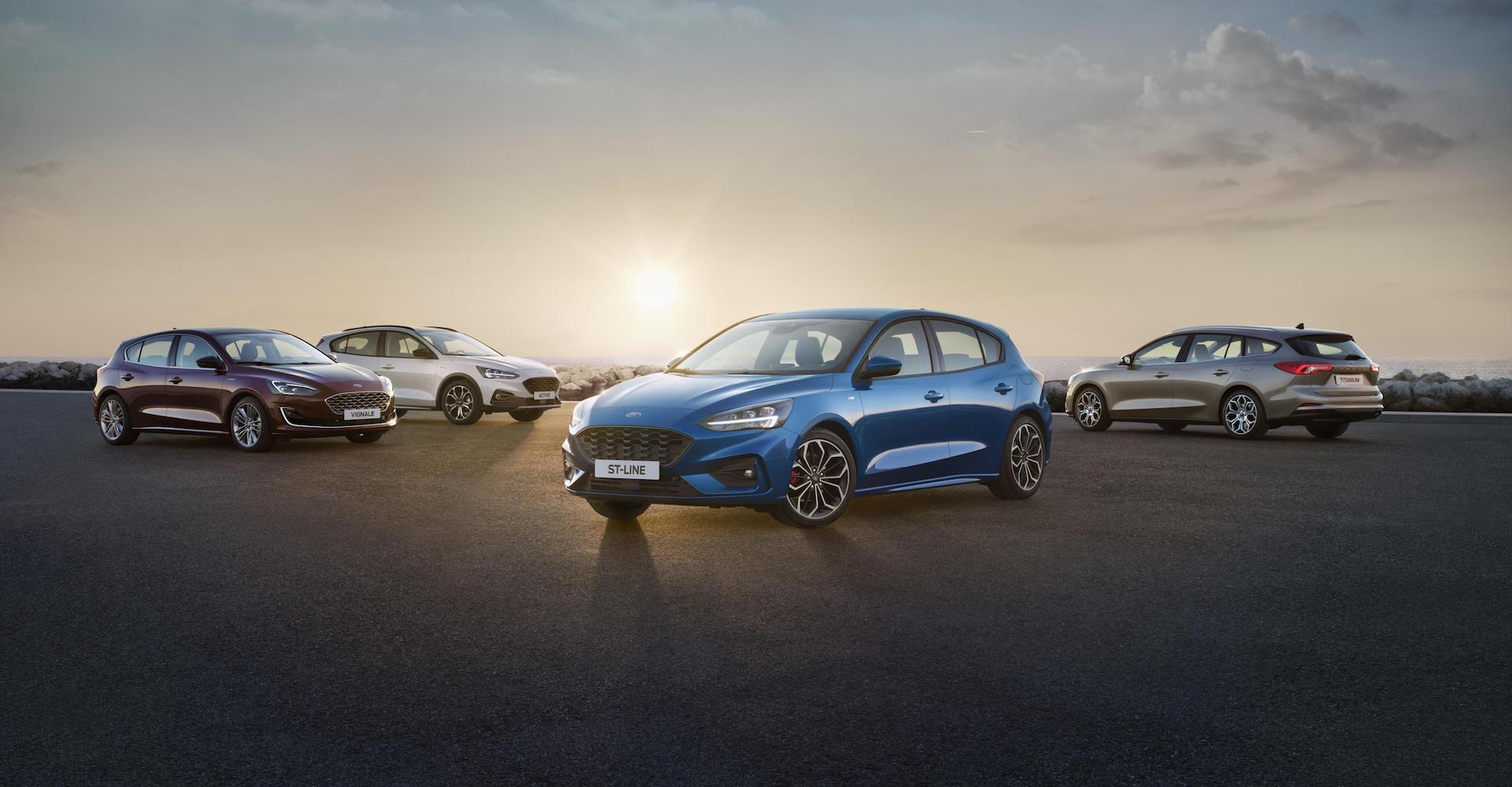 Ford Focus range 2018