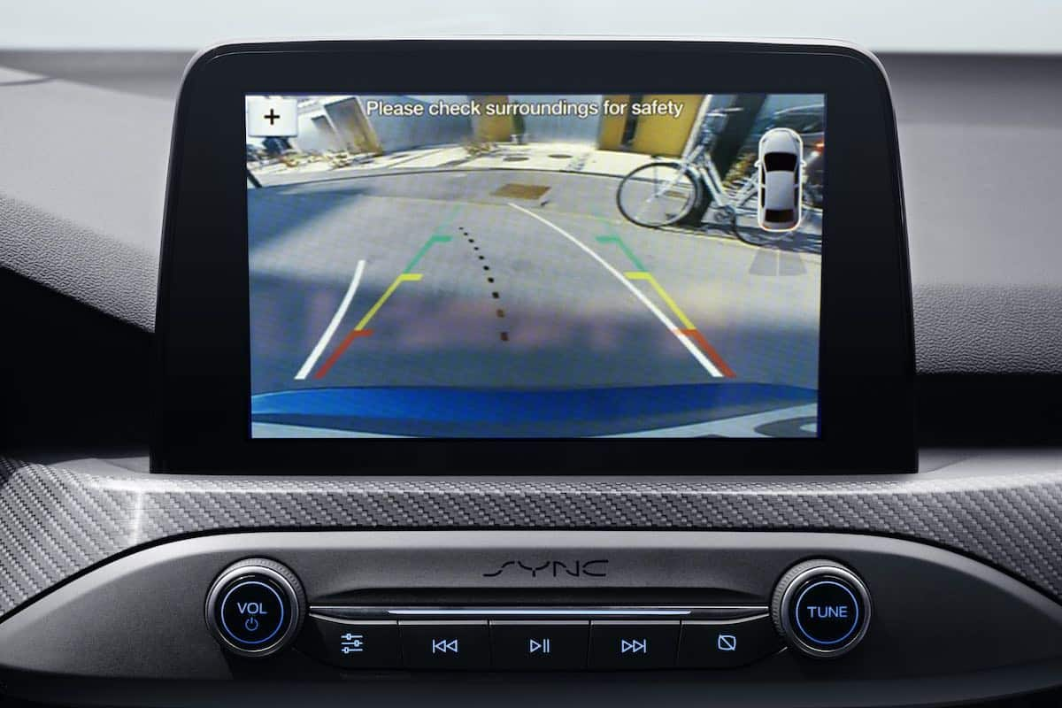 Ford Focus wide-angle reversing camera