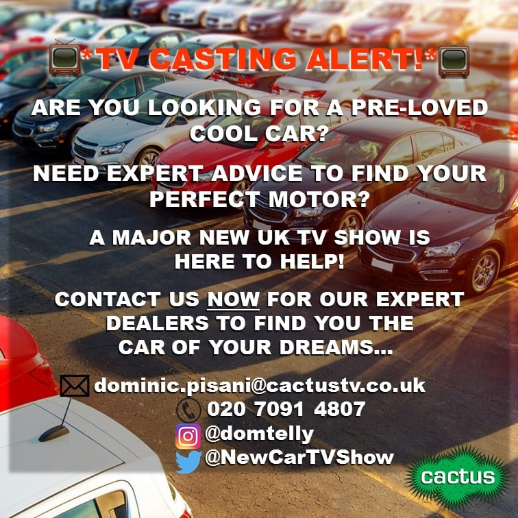 CAR BUYERS WANTED FOR A MAJOR NEW UK TV SHOW! 1