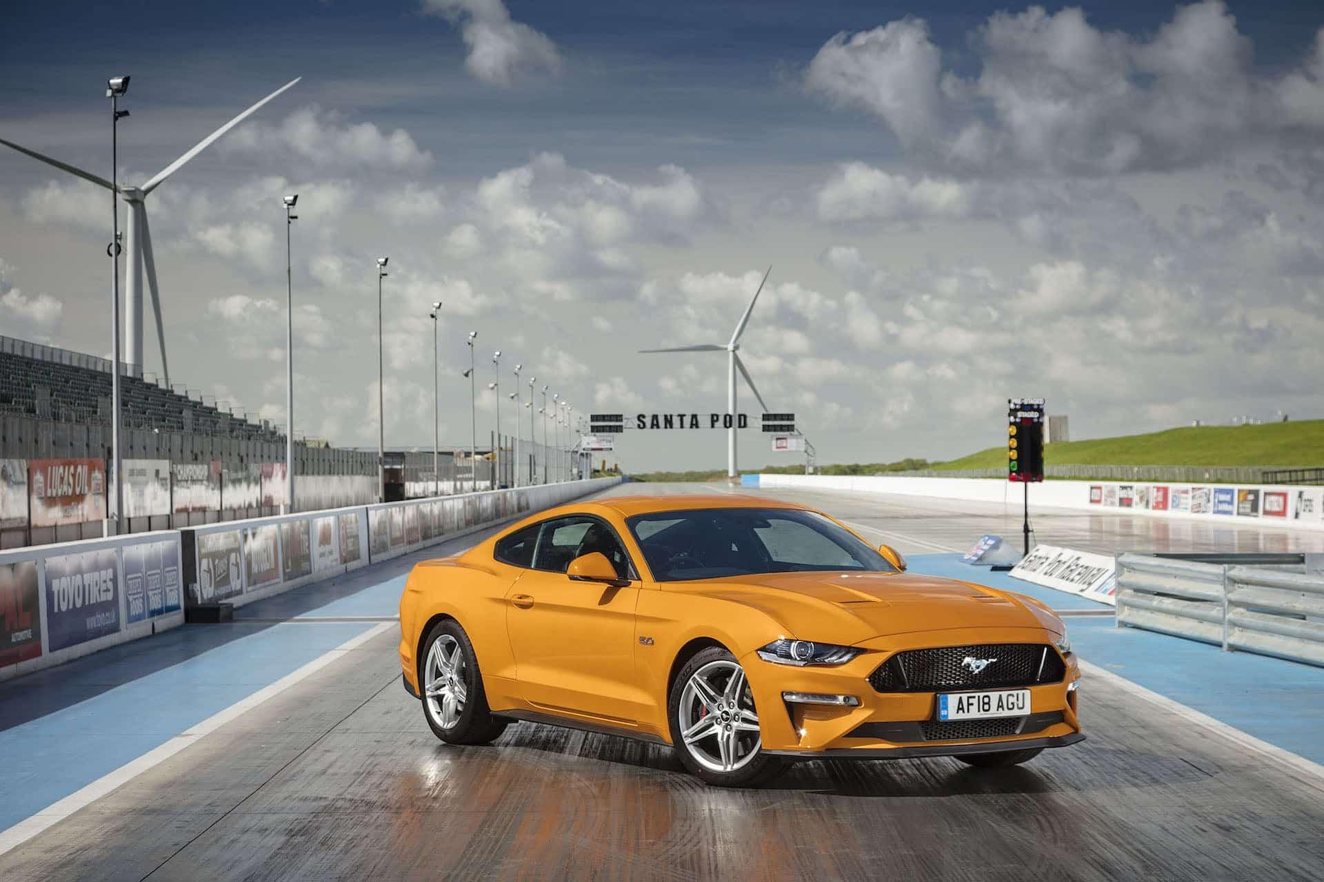 Ford Mustang at Santa Pod Raceway (The Car Expert)