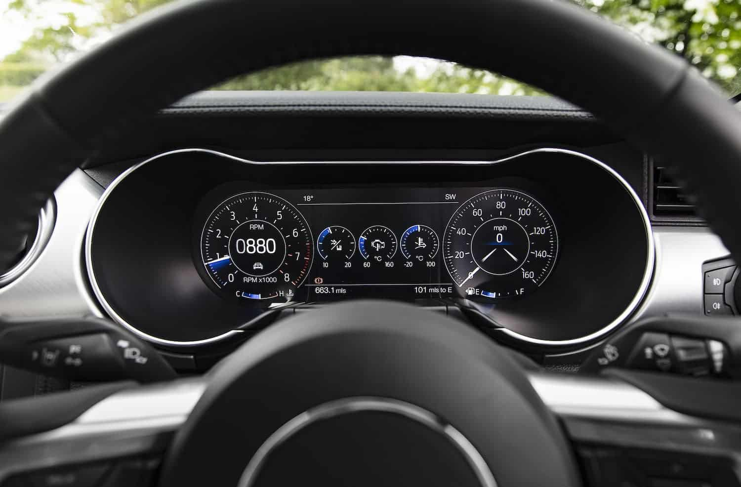 Ford Mustang instrument display