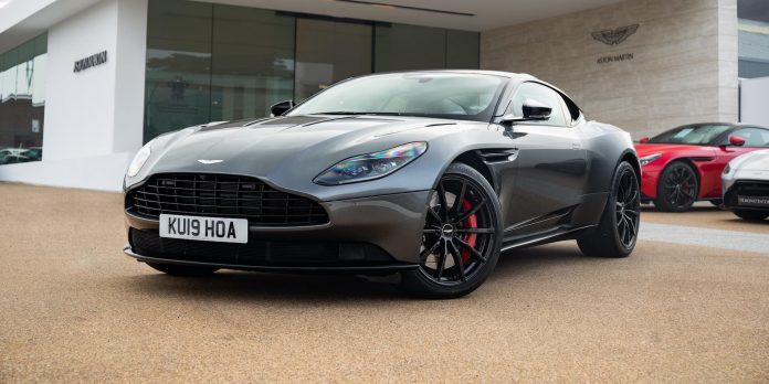 Aston Martin DB11 with 19-reg number plates