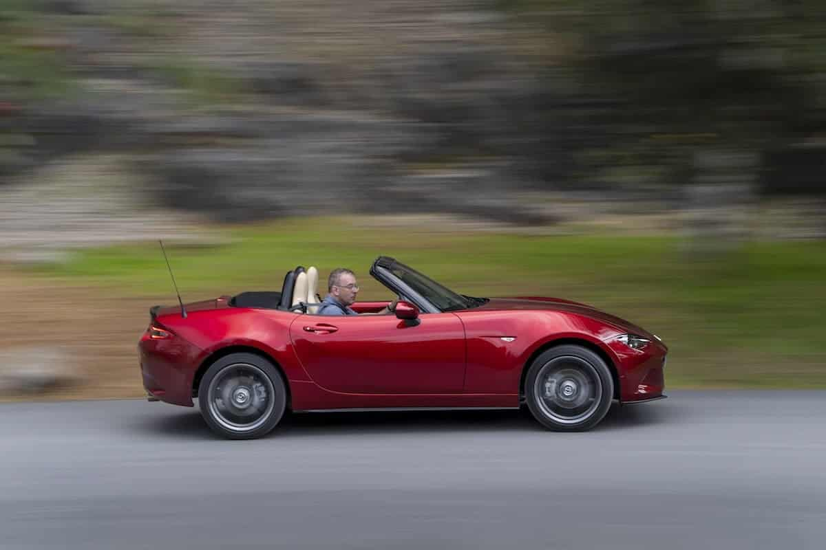 2019 Mazda MX-5 on the road - side view | The Car Expert