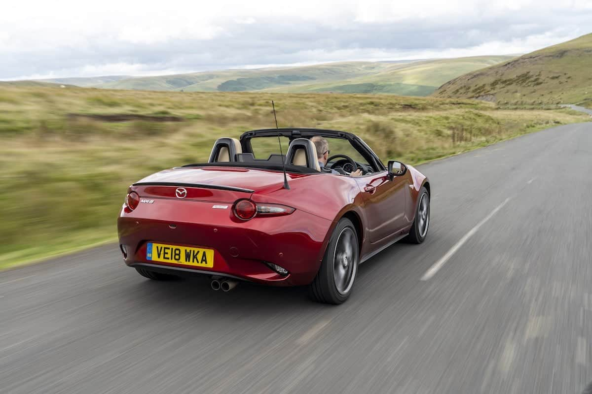 2019 Mazda MX-5 on the road - rear view | The Car Expert