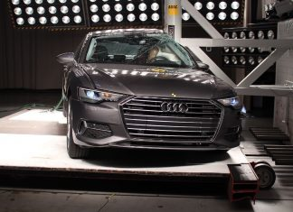 Audi A6 saloon in Euro NCAP crash test