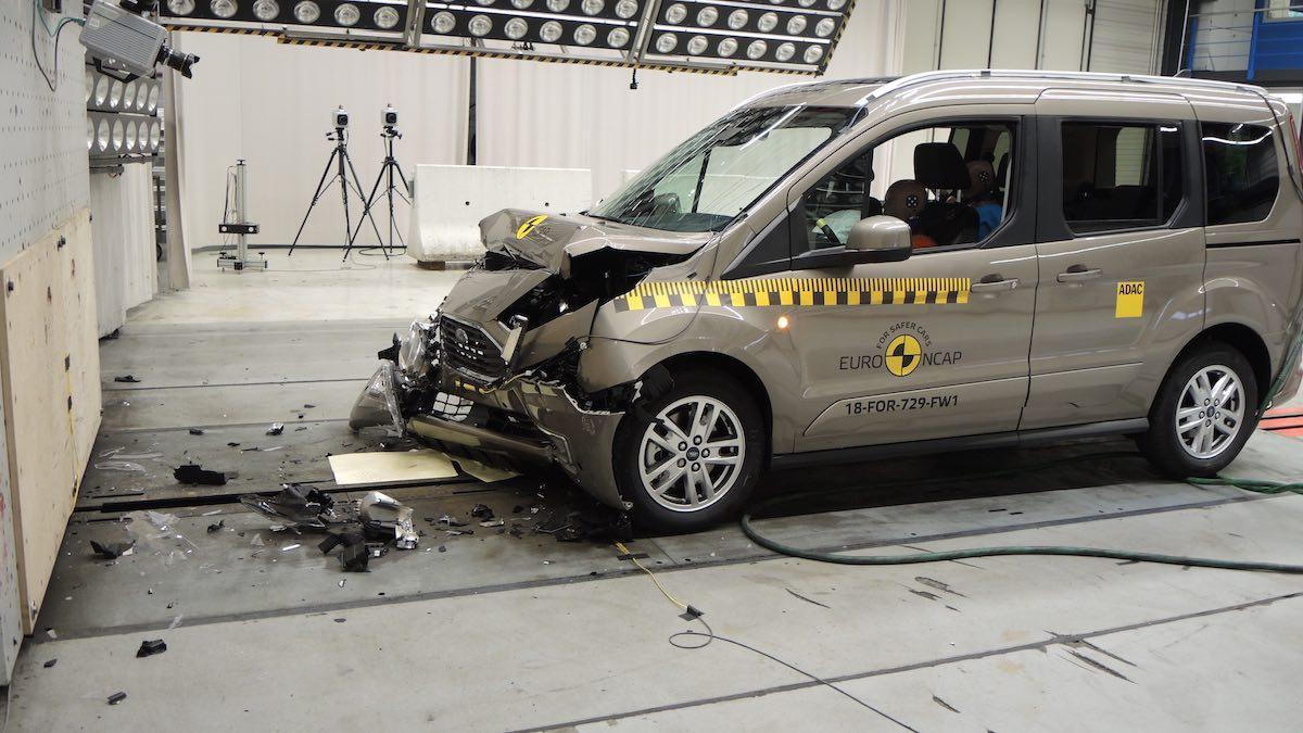 Audi A6 saloon in Euro NCAP crash test