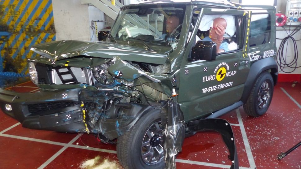 Suzuki Jimny Euro NCAP crash test