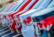 New car dealership forecourt