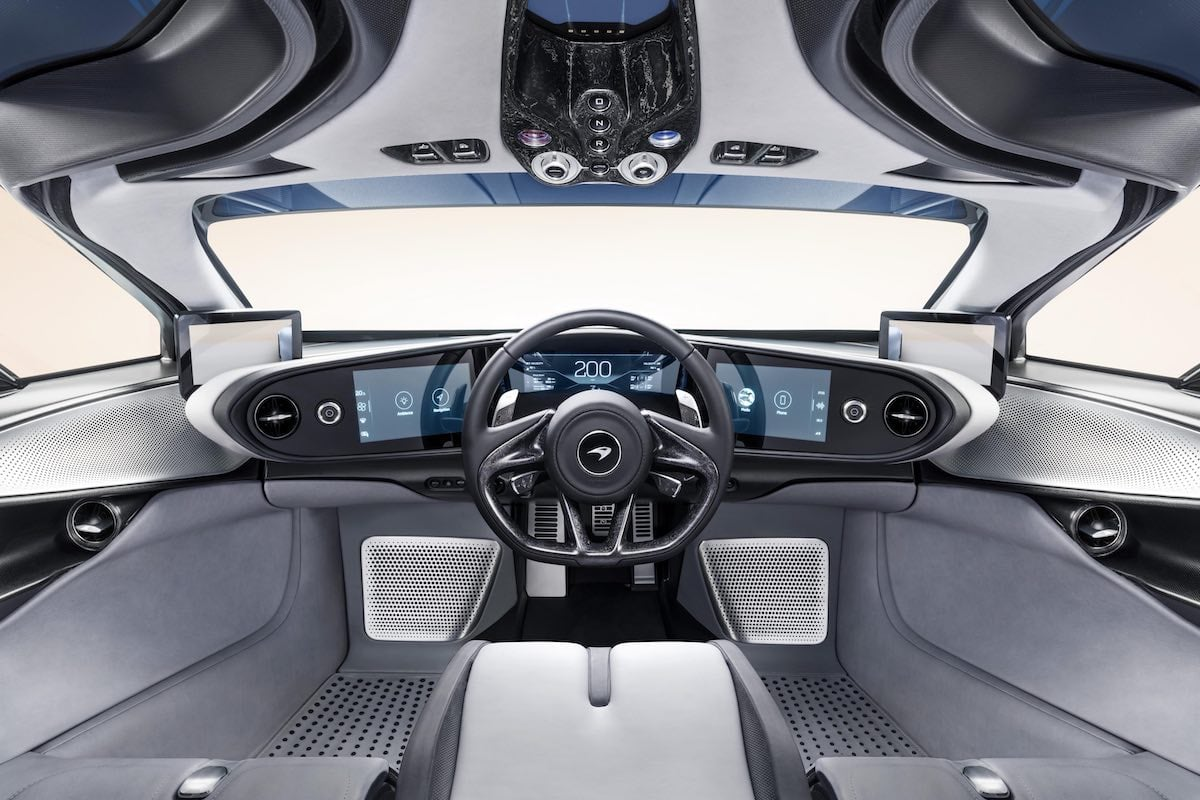 McLaren Speedtail cockpit interior dashboard