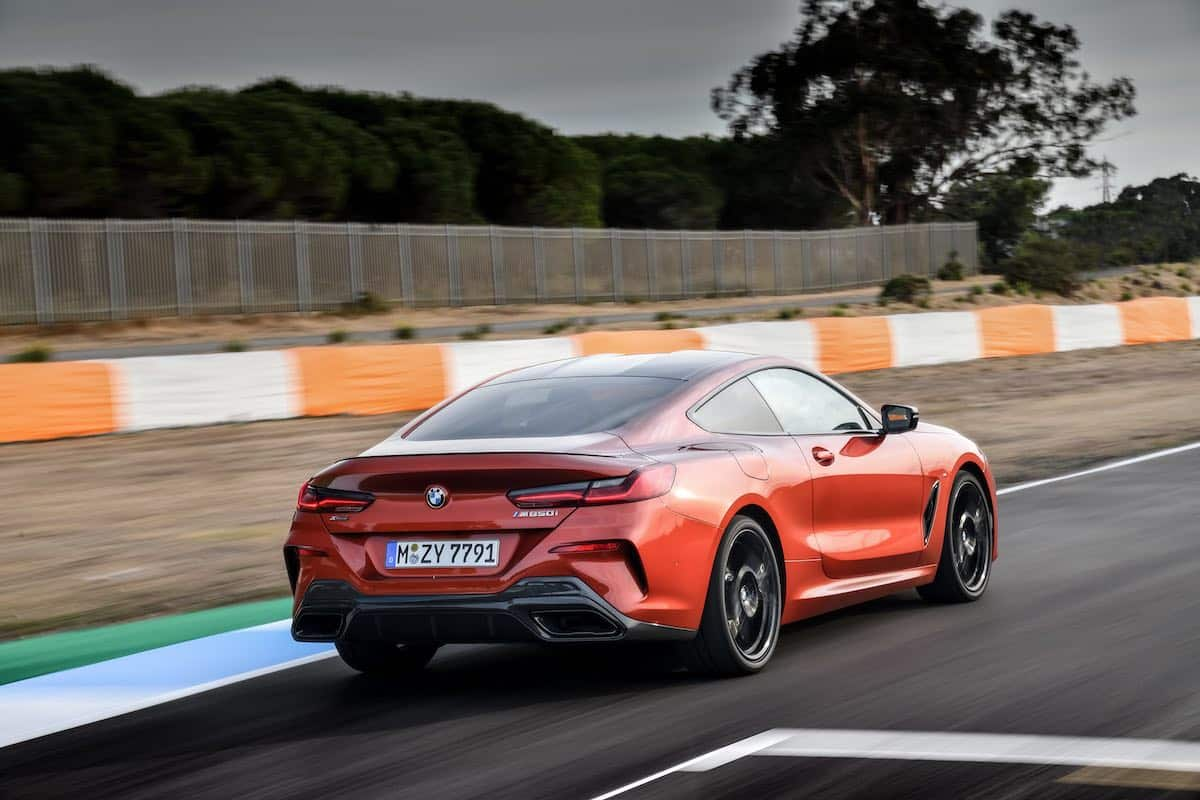 BMW 8 Series M850i on track
